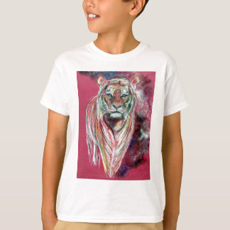 Tiger art print , animal popart by T J Conway T-Shirt