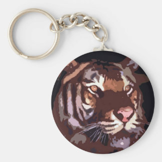 Tiger Art - Wild Cats Keychain
