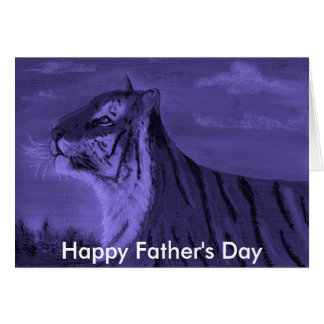 tiger at dusk, Happy Father's Day Card