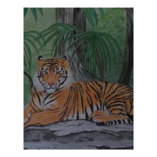 Tiger at Rest Letterhead