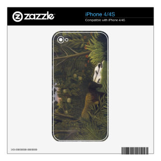 Tiger Attacking a Horse and a Sleeping Black Man ( iPhone 4S Decals