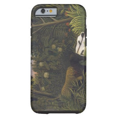 Tiger Attacking a Horse and a Sleeping Black Man   Tough iPhone 6 Case
