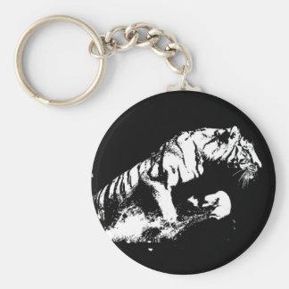 Tiger Attacking Keychain