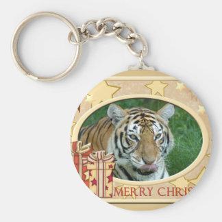 Tiger Auroara-c-148 copy Basic Round Button Keychain