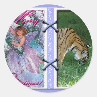 Tiger Auroara-c-45 copy Classic Round Sticker