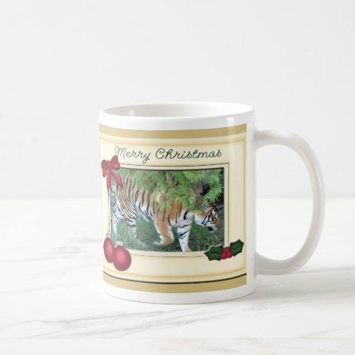 Tiger Auroara Christmas Mug