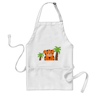 Tiger Baby Adult Apron