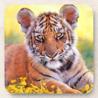 Tiger Baby Cub Beverage Coaster