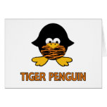 Tiger Baby Penguin Greeting Card