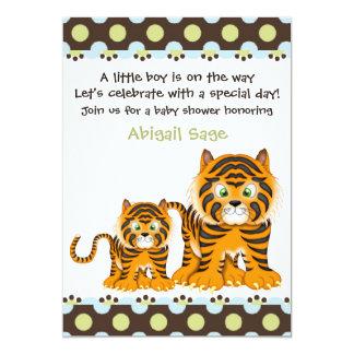 Tiger Baby Shower Invitation for Boys