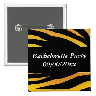 Tiger Bachelorette Party Buttons