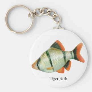 Tiger Barb Tropical Fish Keychain