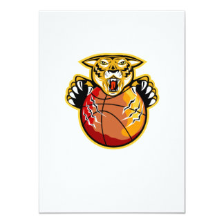 Tiger Basketball Ball Claws Card