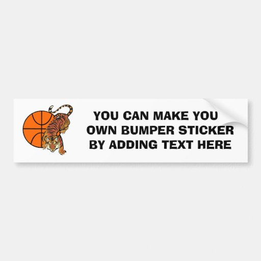 Tiger Basketball T-shirts and Gifts Bumper Stickers