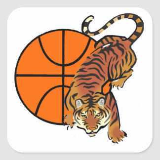 Tiger Basketball T-shirts and Gifts Square Sticker