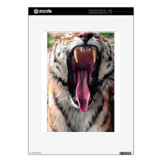 Tiger Bearing Teeth Decal For iPad