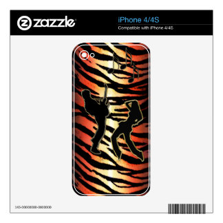 Tiger Beats Skin for iPhone or Smart Phones Skins For The iPhone 4