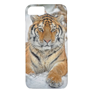 Tiger Beauty in Snow iPhone 7 Case