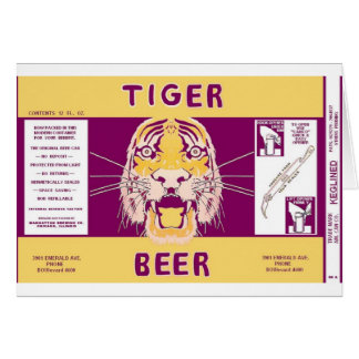 Tiger Beer Manhattan Brewing Chicago Illinois Can Card