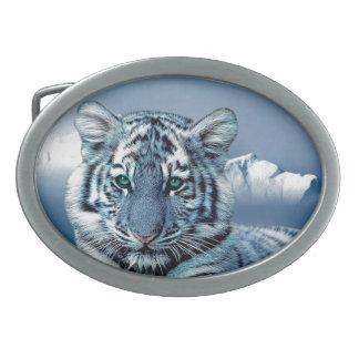 Tiger Belt Buckle Oval