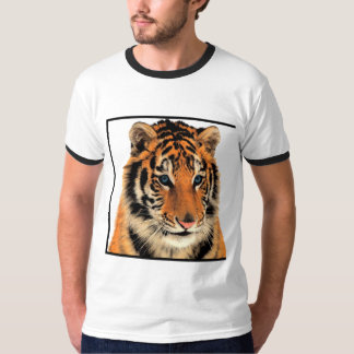 Tiger bengal blue eyed animal print T-Shirt