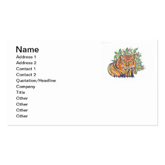 TIGER Bengal Tiger in the lush foliage Business Card
