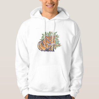 TIGER Bengal Tiger in the lush foliage Hoodie