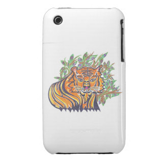 TIGER Bengal Tiger in the lush foliage iPhone 3 Case