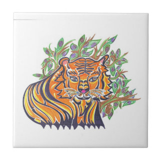 TIGER Bengal Tiger in the lush foliage Tile