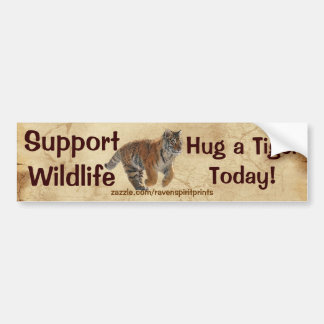 Tiger Big Cat Wildlife Gift Bumper Sticker