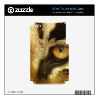 Tiger Big Cat Wildlife Gift iPod Touch 4G Decals