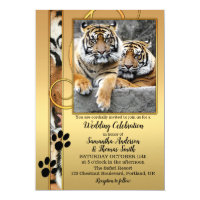 Tiger Big Cats Zoo or Safari Wedding Invitation