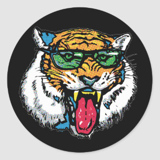 Tiger Big Dot Classic Round Sticker