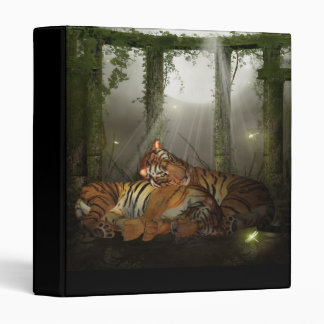 Tiger Binder With Tigers In The Jungle Ruins