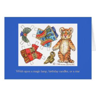 Tiger birthday card note card