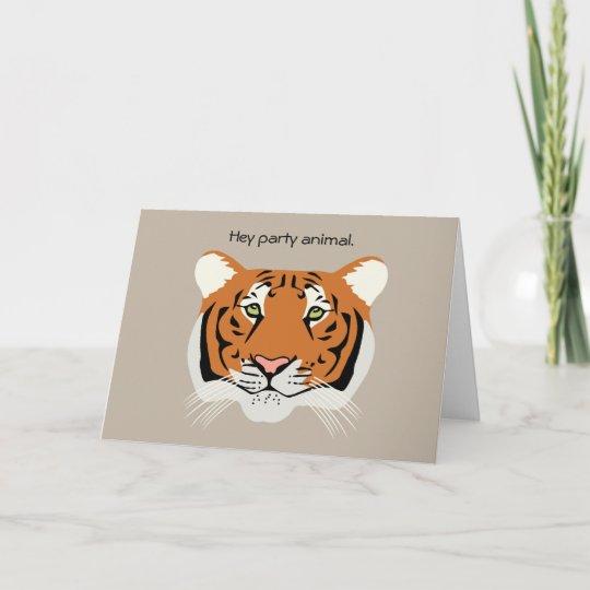 Tiger Birthday Card Zazzle