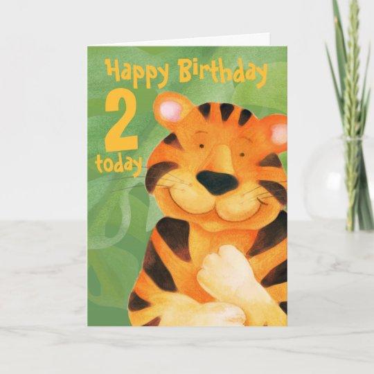 Tiger Birthday Card 2 Today Zazzle