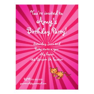 Tiger birthday invitation