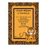 Tiger Birthday Party 5x7 Paper Invitation Card