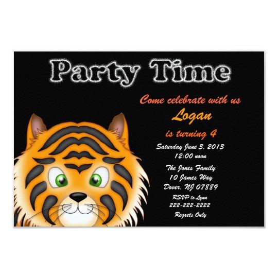 Tiger Birthday Party Invitation Zazzle Com