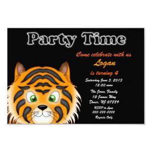 Tiger Birthday Invitations Announcements Zazzle