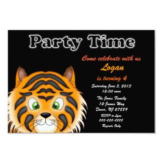 Tiger Birthday Party Invitation