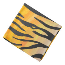 Tiger Black and Orange Print Bandana