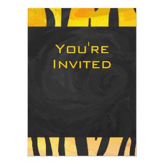 Tiger Black and Orange Print Card