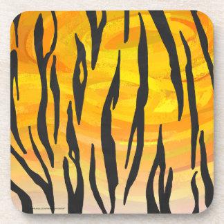 Tiger Black and Orange Print Coaster