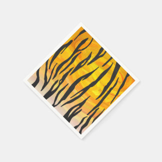Tiger Black and Orange Print Napkin