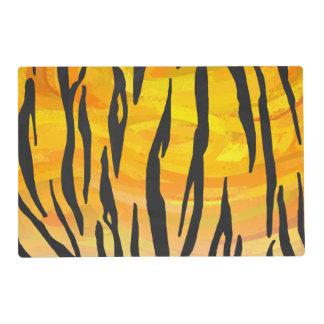 Tiger Black and Orange Print Placemat