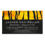 Tiger Black and Orange Print with Tiger Business Cards