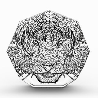 Tiger - Black and White Illustration - Coloring in Award