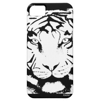 TIGER BLACK AND WHITE IPHONE5 CASE